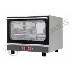 Bäckerei Heißluftofen – Kipptür – Beschwadungs-Taste – Grillfunktion – digitales Bedienfeld – 4 Tragroste 600x400 mm
