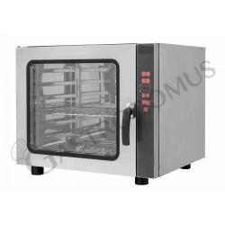 Bäckerei Heißluftofen – Beschwadungs-Taste – dreiphasig – digitales Bedienfeld – 6 Tragroste 600x400 mm
