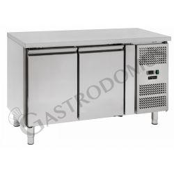 Kühltisch für Konditoreien – 2 Türen – 60 x 40 – Arbeitsplatte aus Edelstahl – Temperaturbereich - 2 °C / + 8 °C