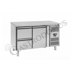 Kühltisch – 1 Tür und 2 Schubladen rechts – Tiefe 700 – Temperaturbereich - 2 ° C / + 8 ° C