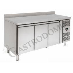 Kühltisch für Konditoreien –  3 Türen – Aufkantung – 60 x 40 – Temperaturbereich - 2 ° C / + 8 ° C