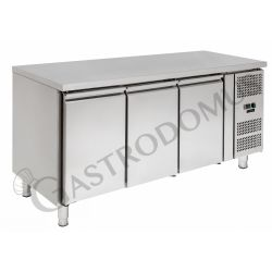 Kühltisch für Konditoreien – 3 Türen – 60 x 40 – Arbeitsplatte aus Edelstahl – Temperaturbereich - 2 °C / + 8 °C