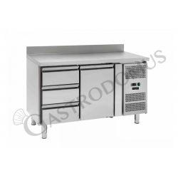 Kühltisch – 1 Tür und 3 Schubladen – Aufkantung – Tiefe 700 – Temperaturbereich - 2 ° C / + 8 ° C