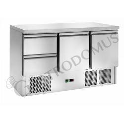 Saladette – 2 Schubladen – 2 Türen – Nutzvolumen 368 L – Temperaturbereich + 2 °C / + 8 °C