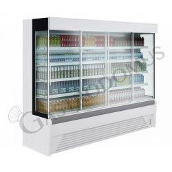 Ettore Wandkühlregal mit Umluftkühlung – Glasschiebetüren – Länge 2560 mm – Temperaturbereich + 2°C / + 10°C