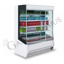 Mirco Wandkühlregal mit Umluftkühlung – Glastüren – Länge 2560 mm – Temperaturbereich + 2°C / + 10°C