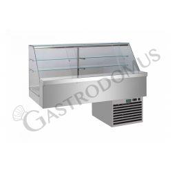 Einbau – Kühlvitrine – Sandwich – 2 Ablagen – Kühlaggregat – B 1600 mm