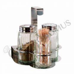 Menage – 3-teilig – Pfeffer – Salz - Zahnstocher