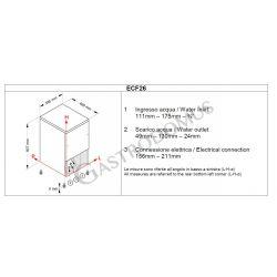 Eiswürfelbereiter –  einphasig –  25 kg / 24 h – Hohlkegel – Fassungsvermögen 4 kg