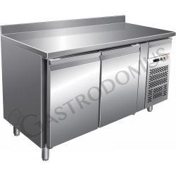 Gastronorm-Tiefkühltisch – 2 Türen – Tiefe 700 mm – Aufkantung – Temperatur -18 °C/-22 °C