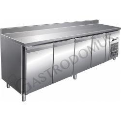 Gastronorm-Tiefkühltisch – 4 Türen – Tiefe 700 mm – Aufkantung – Temperatur -18 °C/-22 °C