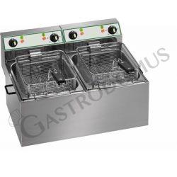 Tischfritteuse – elektrisch – 2 Becken – Kapazität 8 L + 8 L – 3000 W + 3000 W