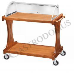 Servierwagen – Holz – Vorspeisen – Plexiglaskuppel – B 1060 mm x T 550 mm x H 1100 mm