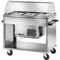 Gekühlter Speisenausgabewagen – -5°/+5°C – B 1240 mm x T 720 mm x H 1260 mm