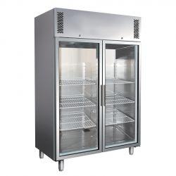 Kühlschrank mit Umluftkühlung – 2 Glastüren – Temperaturbereich - 2 °C/+ 8 °C – 1325 L