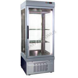 Panoramavitrine für Fleisch – 1 Tür – Temperatur -5°C/+10°C – B 760 mm x T 760 mm x H 1960 mm