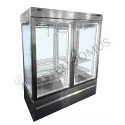 Panoramavitrine für Fleisch – 2 Tür – Temperatur -5°C/+10°C – B 1500 mm x T 760 mm x H 1930 mm