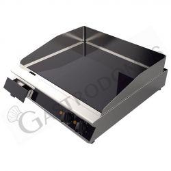 Glaskeramikbratplatte – professionell – 2 Kochzonen – B 660 mm x T 670 mm x H 120 mm