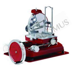 Schwungrad-Schneidemaschine aus Aluminium mit Einbrennlackierung, Durchmesser 370 mm, Nutschnitt 270 x H 250 mm