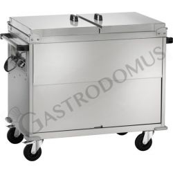 Thermoschrankwagen – Bain-Marie – differenzierte Temperatur –  2 x 1/1GN – B 960 mm x T 680 mm x H 1020 mm