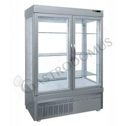 Panorama-Tiefkühlvitrine – Umluftkühlung – 2 Türen – 880 l – Temperatur -25 °C/+5 °C