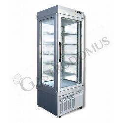 Panorama-Tiefkühlvitrine für Konditoreien – Umluftkühlung – 430 l – Temperatur -25 °C/+5 °C