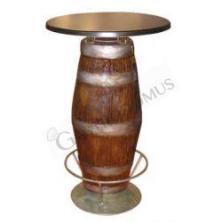 Tisch mit Fußauflage – Fassform – Höhe 98 cm