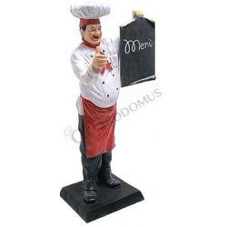Dekofigur – Koch mit Menütafel – Höhe 140 cm