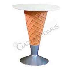 Tisch in Form einer Eistüte – Höhe 73 cm