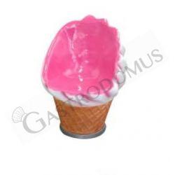 Sessel in Softeis-Form – rosa-weiß – Höhe 86 cm