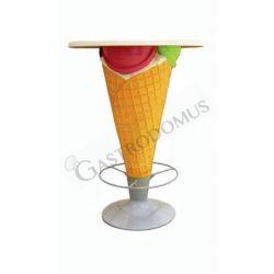 Tisch in Form einer Eistüte – Höhe 95 cm – Durchmesser 70 cm
