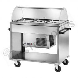 Speisenausgabewagen – kalt – +2°C/+10°C – B 1240 mm x T 720 mm x H 1260 mm