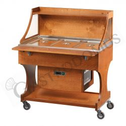 Kaltbuffet – Holz – +2°/+10°C – B 1110 mm x T 750 mm x H 1340 mm