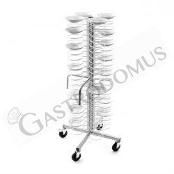 Tellerstapler – Rollen – 96 Teller 18/23 – B 600 mm x T 600 mm x H 1730 mm