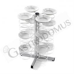 Tellerstapler – Tisch – 48 Teller 25/31 – B 700 mm x T 700 mm x H 830 mm