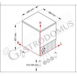 Eiswürfelbereiter –  einphasig –  35 kg / 24 h – Hohlkegel