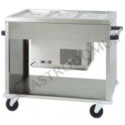 Speisenausgabewagen – kalt – +2°/+10°C – B 1240 mm x T 720 mm x H 940 mm