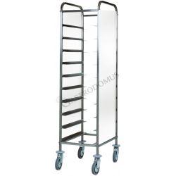 Tablettwagen – Verkleidung – 10 Tabletts – B 380 mm x T 620 mm x H 1750 mm