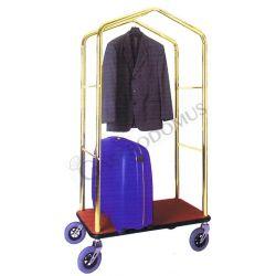 Kofferwagen – Kleiderständer – Messing Stahl