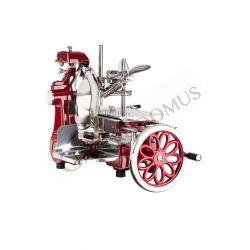 Schwungrad-Schneidemaschine – Aluminium – Einbrennlackierung – Durchmesser 300 mm – Nutzschnitt von B 230 x H 180 mm
