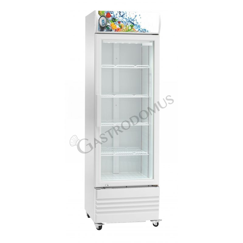 Getränkekühlschrank – Nutzvolumen 252 L– Leuchtaufsatz – Temperaturbereich +2 °C / + 8 °C