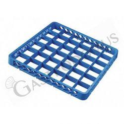 Aufsatzrand für Gläserkorb – blau – 36 Fächer – H 45 mm