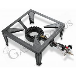 Hockerkocher – Gusseisen – Ventil – piezoelektrische Zündung – B 560 mm x T 400 mm x H 180 mm