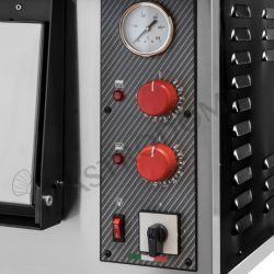 Teigausrollmaschine aus Edelstahl – Fußpedal – untere Rollen – für 14/33 cm Pizzateig