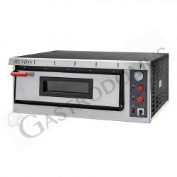 Teigausrollmaschine aus Edelstahl – Fußpedal – untere Rollen – für 26/40 cm Pizzateig
