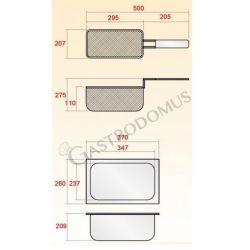 Tischfritteuse – elektrisch – 1 Becken – Kapazität 10 L – 6000 W – Ablassventil