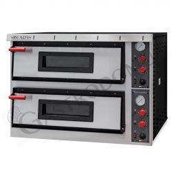 Elektro-Pizzaofen – 6 + 6 Pizzen mit Ø 32 cm – 2 Kammern – mechanische Steuerung