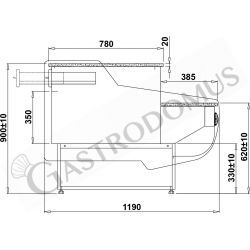 GN 1/4 Behälter – Polycarbonat – B 265 mm x T 162 mm x H 200 mm – 5,6 Liter