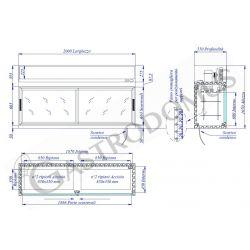 Schranktisch aus Edelstahl – 2 Schiebetüren – B 1200 mm x T 800 mm x H 850 mm