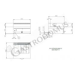 Schranktisch aus Edelstahl – 2 Schiebetüren – B 1900 mm x T 800 mm x H 850 mm
